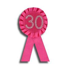 30th Birthday Rosette, Hot Pink NEW