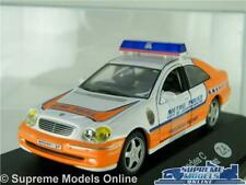 MERCEDES C CLASS MODEL POLICE CAR 1:43 SCALE 2002 JOHANNESBURG AFRICA (CASE) K8