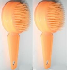 2  New Yorker Brush hairbrush Self Cleaning Retractable 126 Bristle Shampoo Pet