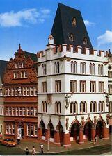 Postkarte Trier Fotokunst Schwalbe: 2/6 Steipe und Rotes Haus mit Inschrift ...