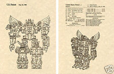 Transformers PREDAKING Patent Art Print READY TO FRAME!! G1 Predacon Decepticon