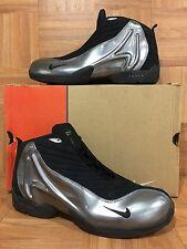 VTG🔥 Nike Air Gary Payton IV 4 Black Metallic Silver Sz 12 302267-001 RARE NEW