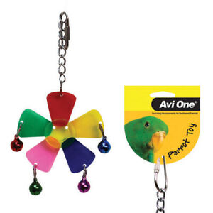 Avi One Hanging Toy Acrylic Plum Blossom With Bell Balls Budgie Finch Canary
