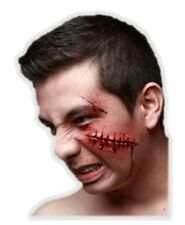 Fail Stitches Latex Appliance Adult Halloween Gash Sewn Up Prosthetic Make-up