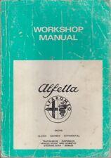 ALFA ROMEO ALFETTA BERLINA ORIGINALE 1978 Manuale di servizio di fabbrica