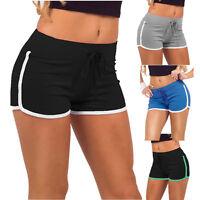 Summer Womens Sport Shorts Gym Workout Waistband Skinny Yoga Elastic Short Pants