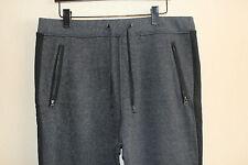 Mens H&M Cotton Blend Sweatpants Joggers Sweats Lounge Pants Gray Black Stripe L