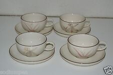 Set 4 Vintage Winfield Porcelain China Tea Coffee Cups  4 Saucers Dragon Passion