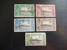 Sierra Leona 1938 SG188, 189,192,193,196 puerto de Freetown. usado. Cat £ 6.70.