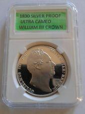 1830 99.9% Proof Silver Ultra Cameo Crown William IIII - Scarce Re-Strike