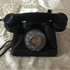 1930 Rotary Phone Antique Siemens Old Fashioned Black British Made Decor Phone