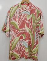 Tommy Bahama XL Hawaiian Shirt Short Sleeve Men's Aloha Camp Silk