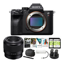 Sony Alpha a7R IV Mirrorless Digital Camera Body with 50mm f/1.8 Lens Bundle