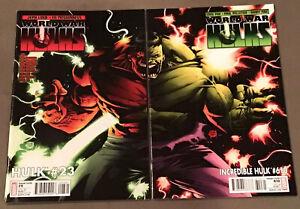 Incredible Hulk  Vol 4 # 610 1:20 VARIANT & Hulk #23 KUBERT CONNECTING World War