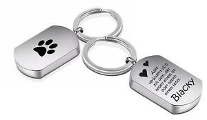 ID Asche Medallion Schlüsselanhänger mit Gravur nach Wunsch Urne für Tiere Hund