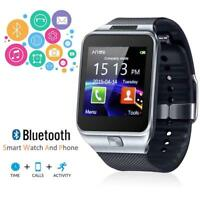 Smart Watch Mobile Phone Unlocked GSM Bluetooth4.0 Music Player Camera Sync DZ09