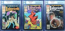 Labyrinth #1-3 Complete Marvel Movie Adaptation PGX (not CGC) 9.2 NM - HTF Bowie