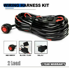 TWO Lead Offroad Wiring Harness Kit REd Toggle Switch w/ 40A Relay
