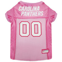 Carolina Panthers NFL Officially Licensed Pets First Dog Pet Pink Jersey XS-L