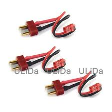3Pcs T-Plug (Deans Style) Male To 2P Jst Adapter with 10Cm (2 inches) 20awg Wire
