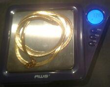 "14K Solid Yellow Gold Herringbone Necklace 13.4 Grams 24"" Scrap or Keep NR"