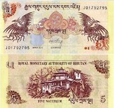 Bhutan 2011year 5 Ngultrum BrandNew Banknotes