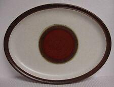 """Denby POTTER'S WHEEL 13-1/2"""" Oval Serving Platter  RED RUST"""