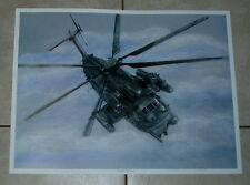 Pave Low MH-53 Helicopter Signed Print 18x24 poster hurlburt usaf ac 130 spectre
