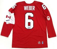 SHEA WEBER SIGNED TEAM CANADA 2014 OLYMPICS JERSEY PSA/DNA MONTREAL CANADIENS