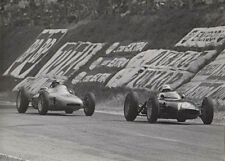 SINGLE SEATER RACING CAR No.10, FOLLOWED BY PORSHE No.30, PHOTOGRAPH.