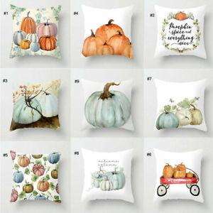 1Pc Fall Halloween Pumpkin Pillow Case Waist Throw Cushion Cover Sofa Home Decor
