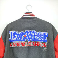 Vintage Pac West National Champion Varsity Jacket Grey / Red L / XL size