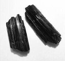 Raw Black Tourmaline Gemstone Specimen Reiki Chakra Crystal Heal Radiation. One.