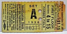 Very Rare 1936 Pittsburgh Americans vs Brookyln Tigers AFL Football Ticket Stub