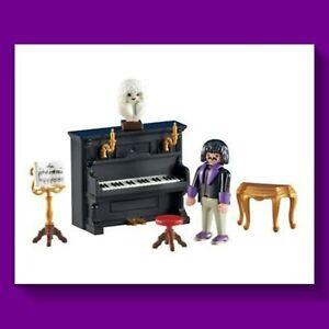 Playmobil 6527 Pianist mit Klavier im Musik-Salon, ähnlich 5551, Nostalgie, NEU