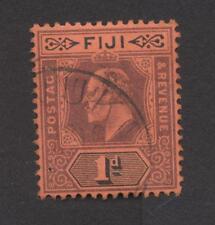 FIJI-Edouard VII - Filigrana CA multiple - Dentellatura 14   Very Fine