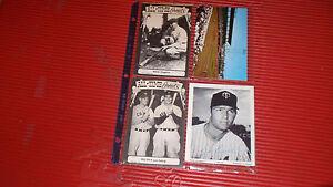 VINTAGE BASEBALL/POSTCARDS DAVE BOSWELL LOU GEHRIG MILLER HUGGINS 1950S 60S & 70