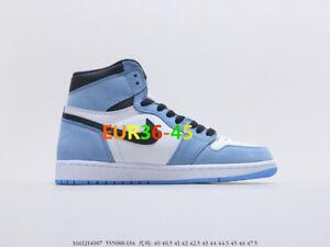 Sneake Herren Damen Jordan 1 High OG University Blue 555088 134Gr Sneaker