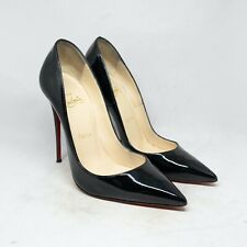 Louboutin So Kate Black Patent Leather Size 37 / US 7