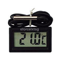 Digital Thermometer Hygrometer Temperature Meter Probe Sensor LCD US