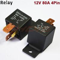 5 PCS 80A 4PIN Automotive Car Relay 80 AMP DC 12V 24V High Current Relays SPST