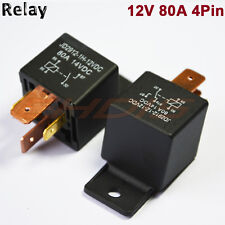 5 PCS 80A 4PIN Automotive Car Relay 80 AMP DC 12V 24V High Current Relays SPST