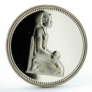 Egypt 5 pounds King Thutmose III proof silver coin 1994