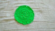 Handcrafted Crochet Bright Green Doily