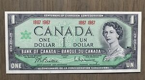 1867 - 1967  Canadian 1 Dollar Centennial Paper Bill! Near Mint!!