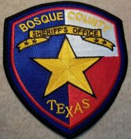 TX Bosque County Texas Sheriff Patch