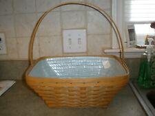 2003 Longaberger Basket Combo Liner Protector Handle (Easter Maybe)