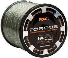 FOX TORQUE LOW VIZ MONOFILAMENT CARP FISHING LINE - ALL THE SIZES