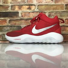Nike Mens Basketball Shoes Zoom Rev TB Size 10 University Red Silver Women 11.5