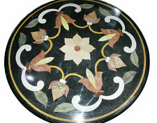"24""x24"" Marble Table Top Semi Precious Gem Mosaic Inlay Pietradura Gifts Decor"